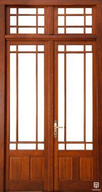 Puerta-5 de la vivienda con cerramiento antibalas